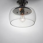 Goblet 1-Light Semi Flush Mount