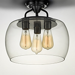 Goblet 3-Light Semi Flush Mount