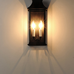Vicksburg 2-Light Outdoor Pocket Wall Sconce