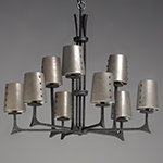 Anvil 9-Light Pendant w/Shades