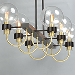 Bauhaus 6-Light Linear Chandelier