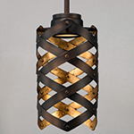 Weave LED 1-Light Mini Pendant