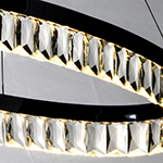 Icycle LED Oval Pendant