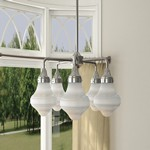 New School 5-Light LED Chandelier