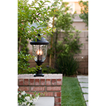 Carriage House DC 3-LT Outdoor Pole/Post Lantern