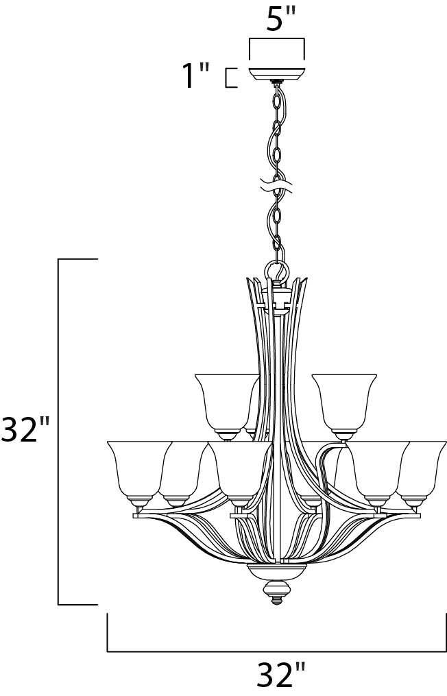 madera 9-light chandelier - multi-tier chandelier