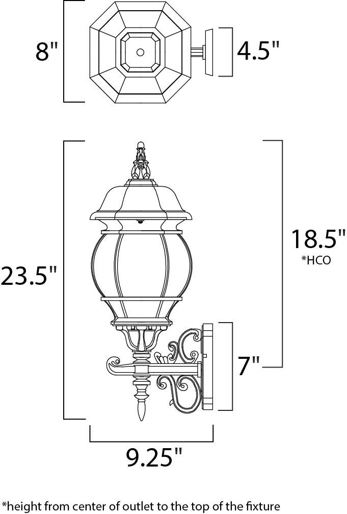 crown hill 3-light outdoor wall lantern - outdoor wall mount