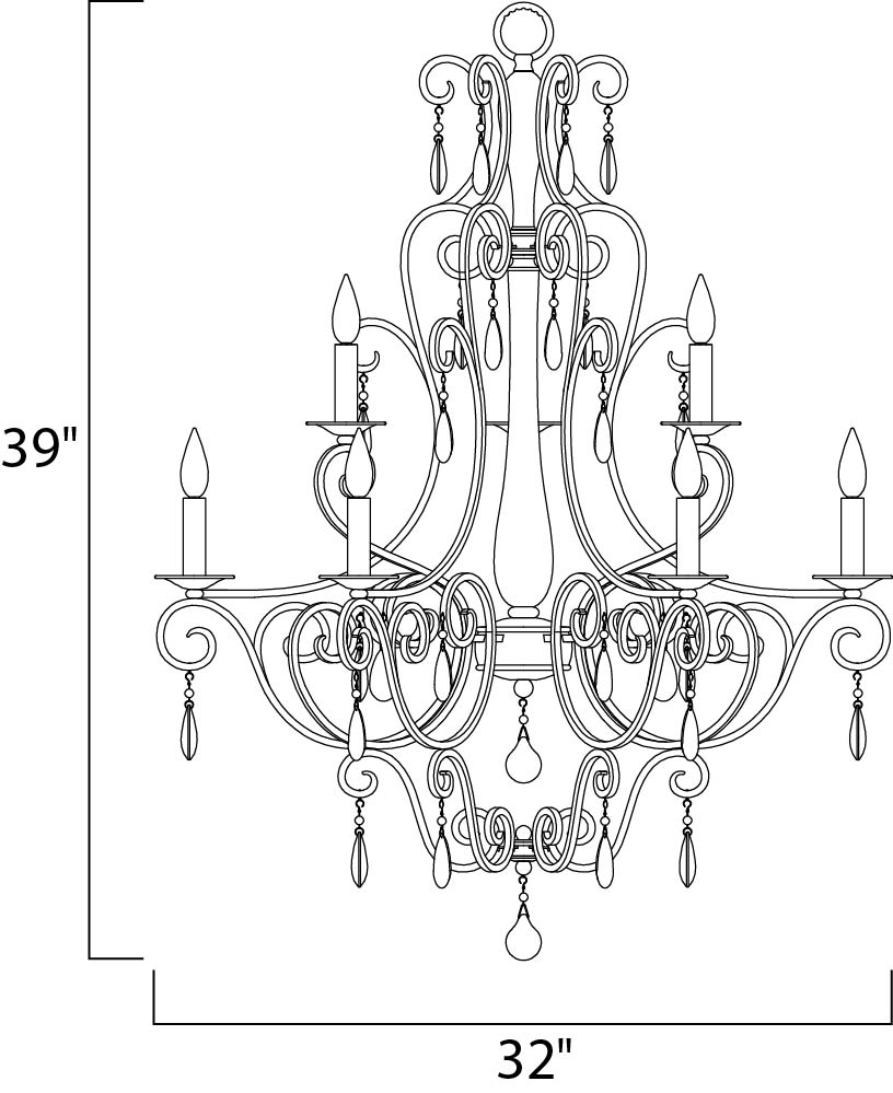 hampton 9-light chandelier - multi-tier chandelier