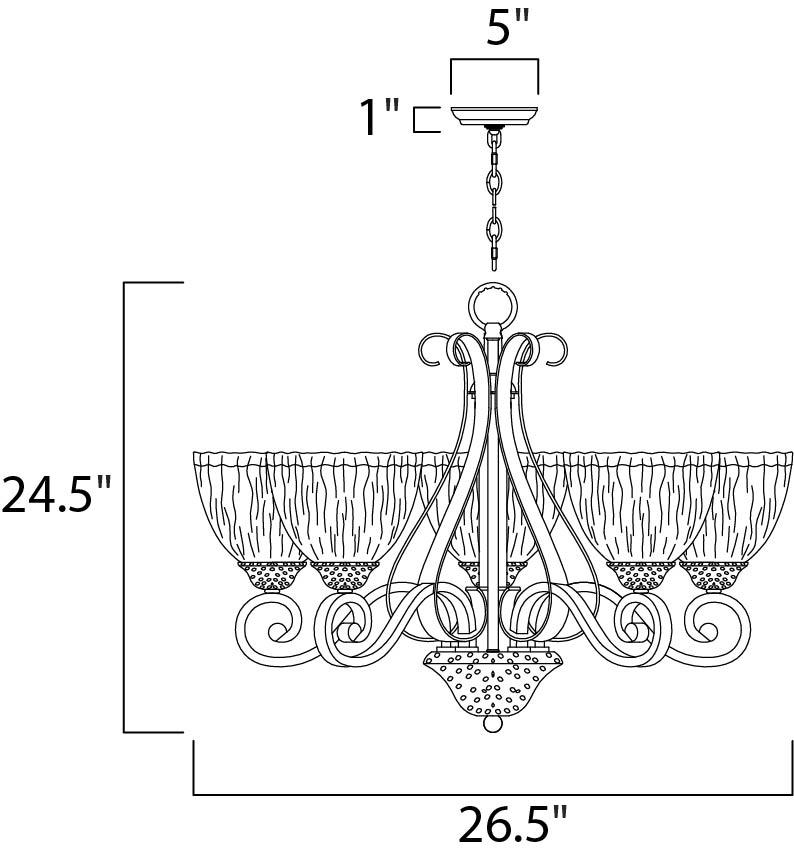 barcelona 5-light chandelier