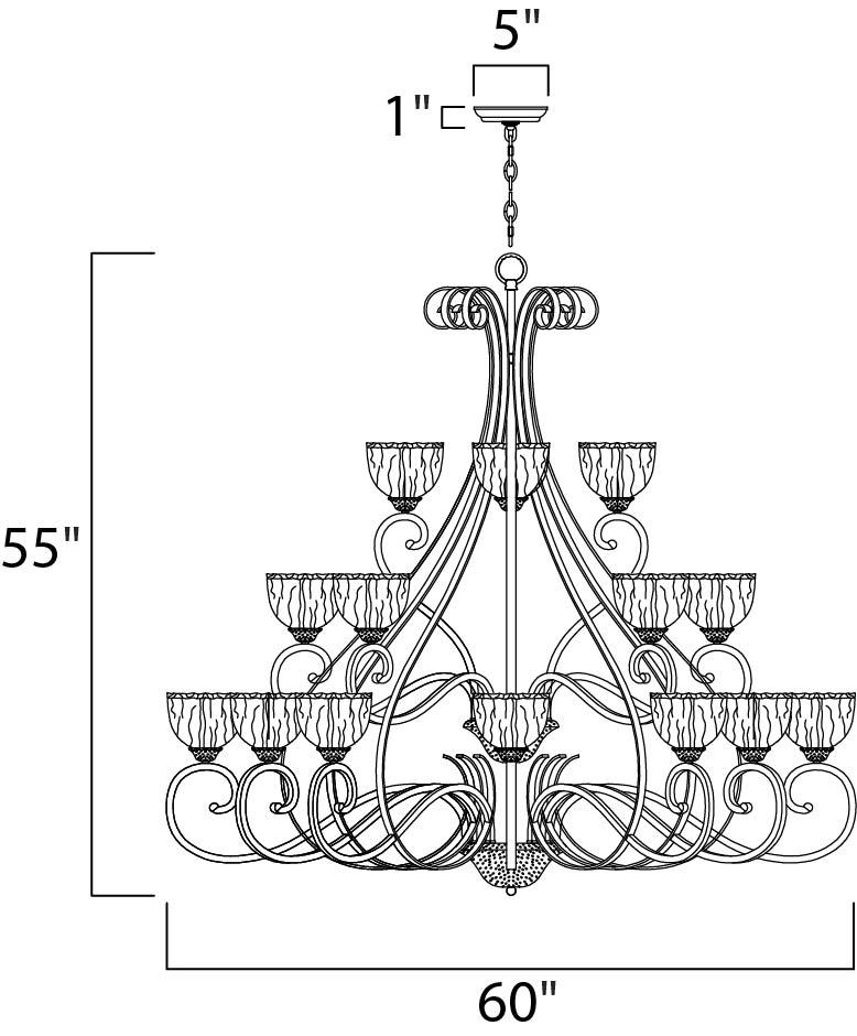 barcelona 21-light chandelier