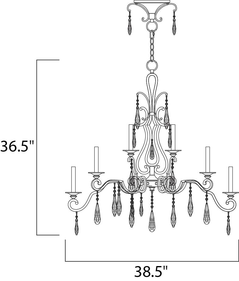 chic 10-light chandelier - multi-tier chandelier