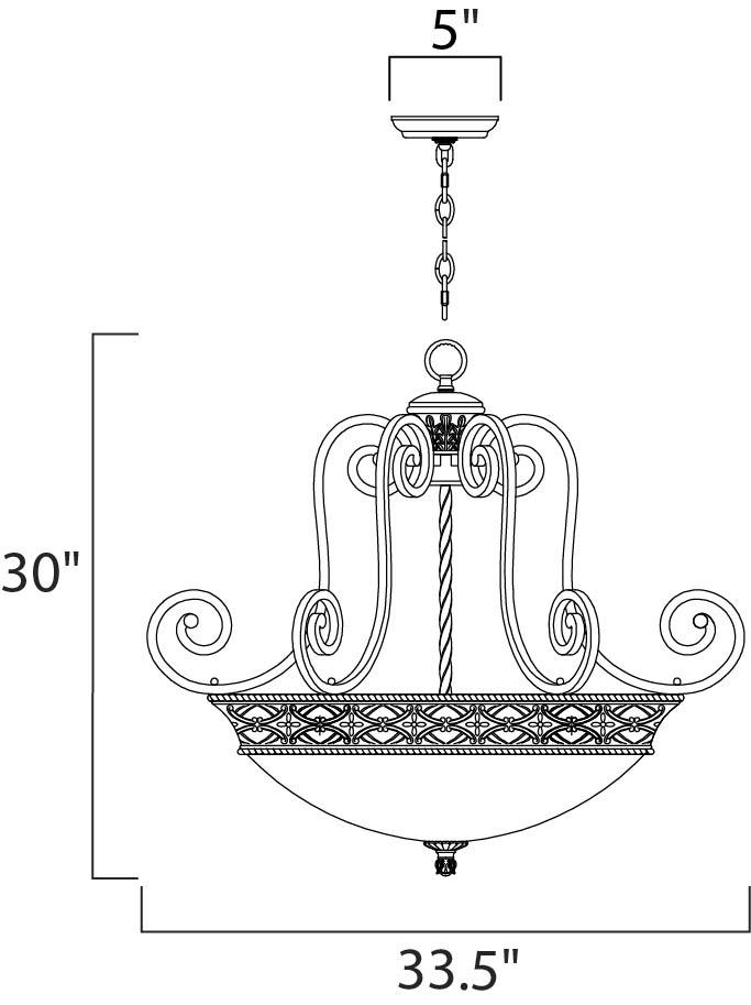 portofino 4-light invert bowl pendant