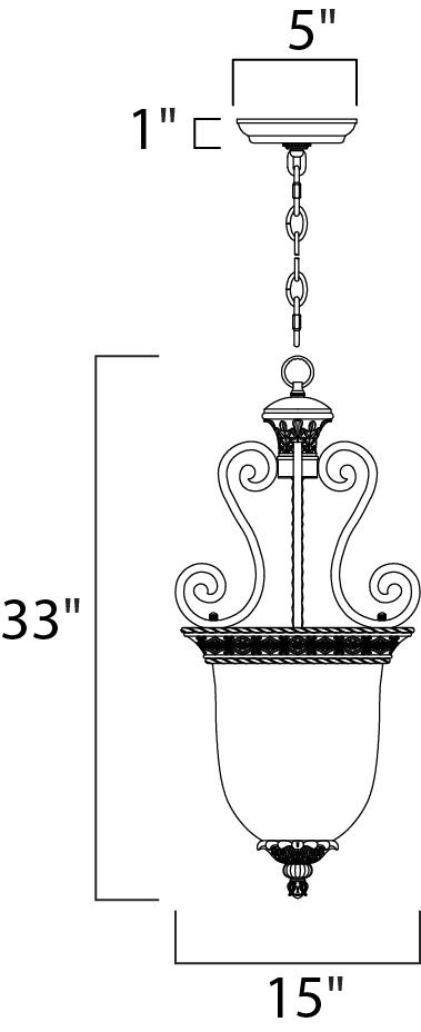 portofino 2-light invert bowl pendant