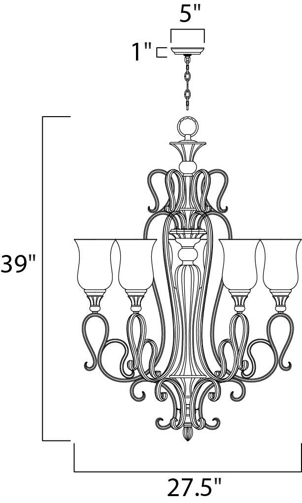 sausalito 5-light chandelier - single-tier chandelier ... golf cart wiring diagram for brake light #12