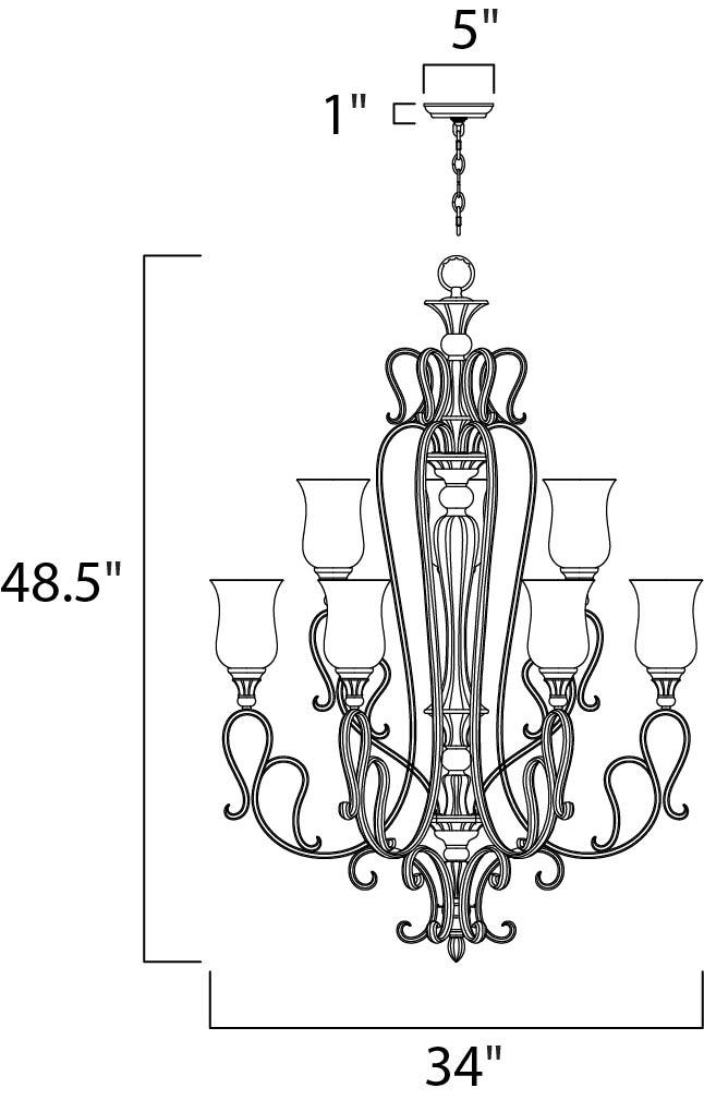sausalito 9-light chandelier