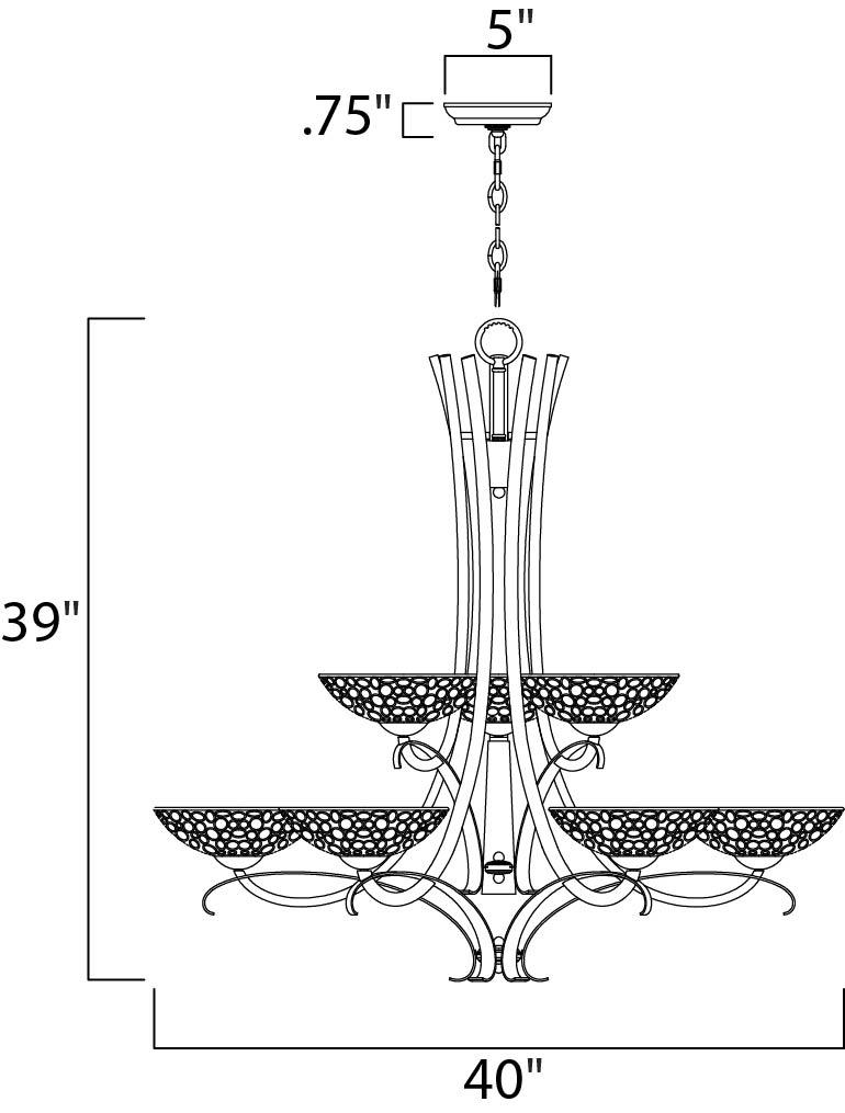 meridian 9-light chandelier