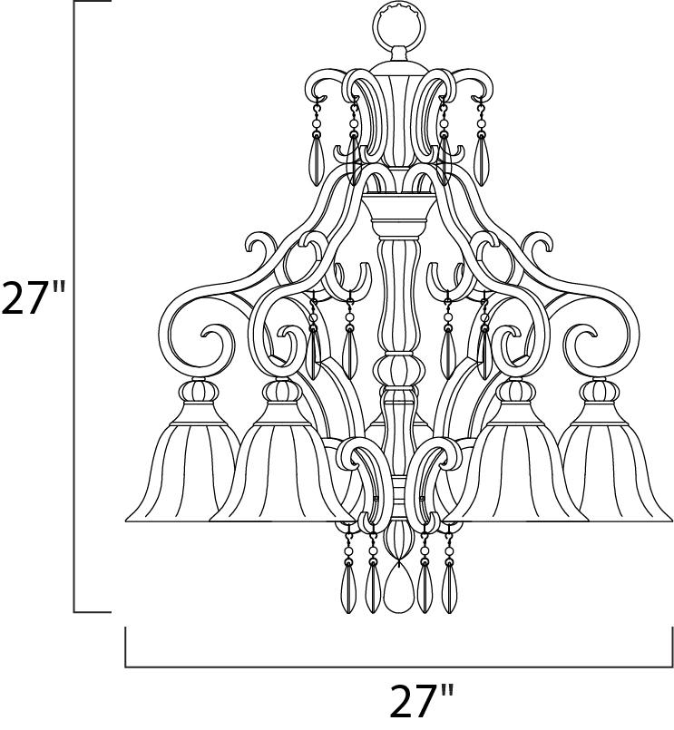 dresden 5-light chandelier - down light chandelier