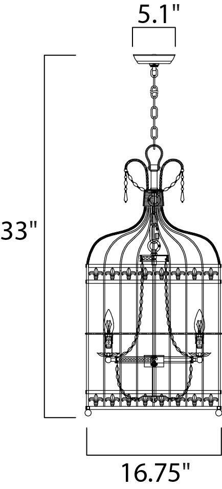gisele 5-light pendant - chandelier