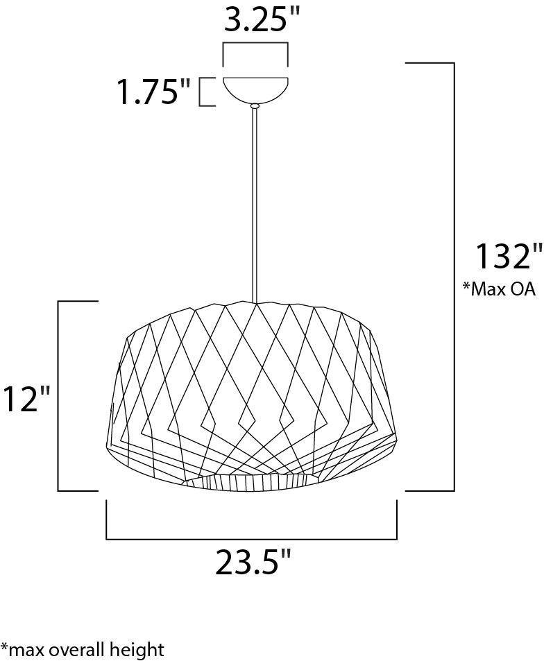 Horgen 1 Light Pendant