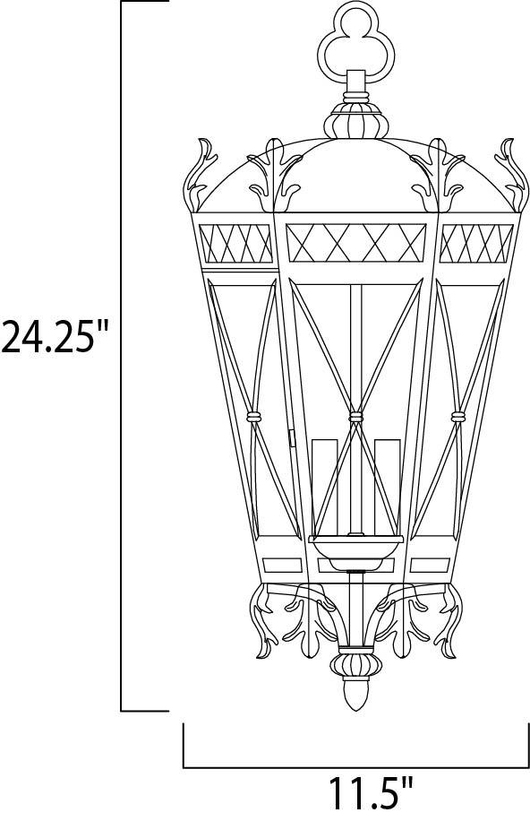 canterbury 3-light outdoor hanging lantern