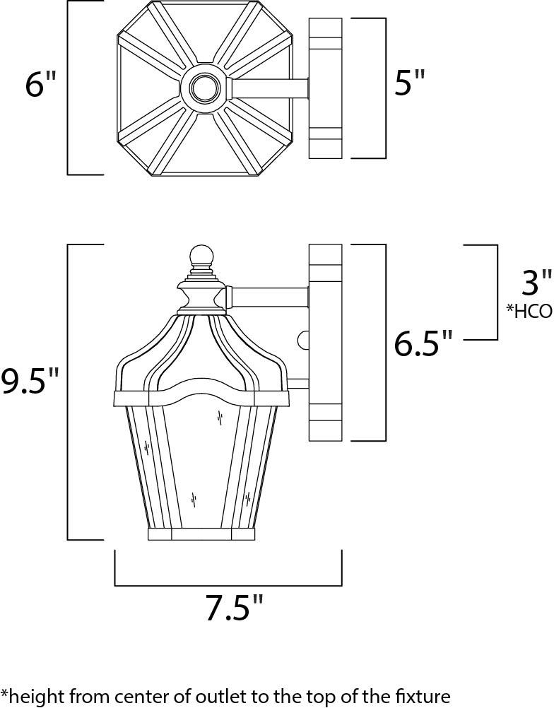 garden vx 1-light outdoor wall lantern