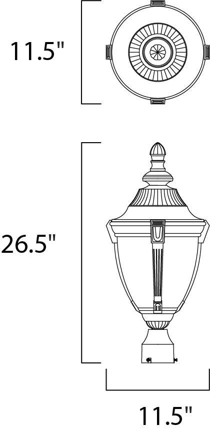 wakefield cast 1-light outdoor pole  post lantern