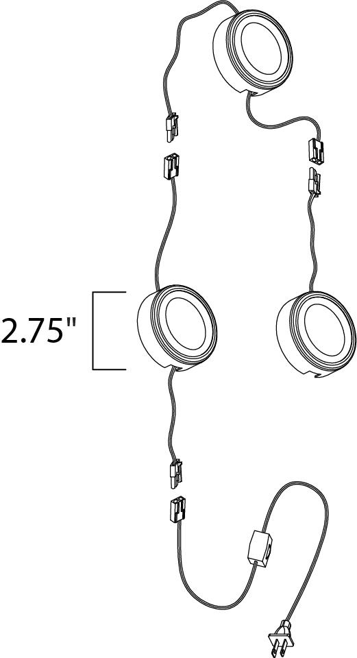 CounterMax MX-LD-AC LED Puck 3000K | Maxim Lighting
