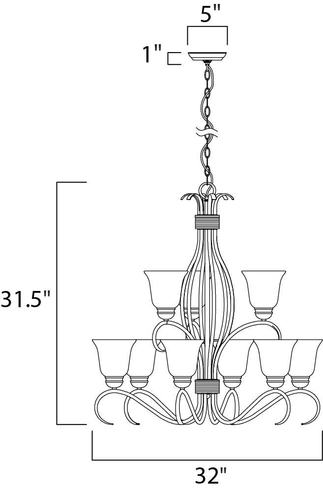 basix ee 9-light chandelier
