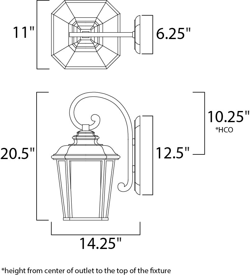 radcliffe ee 1-light large outdoor wall
