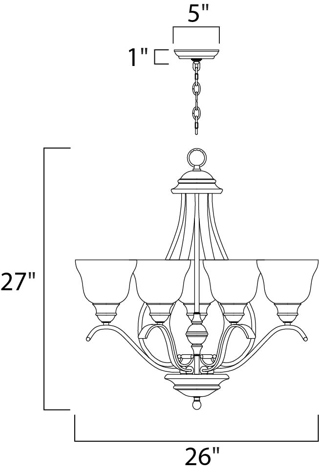 linda ee 5-light chandelier