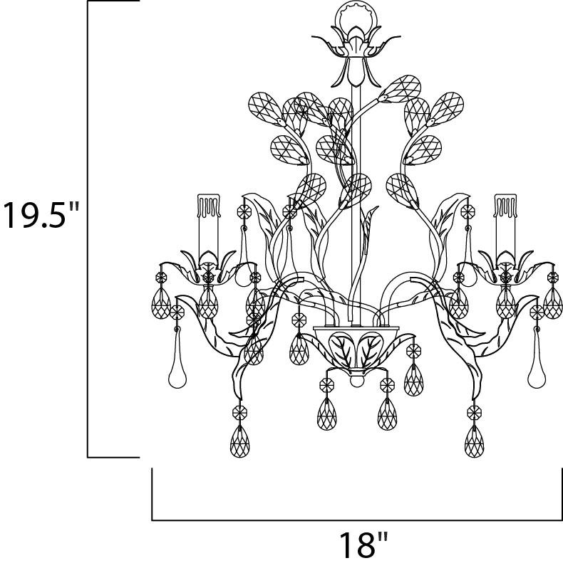 grove 3-light chandelier - mini chandelier
