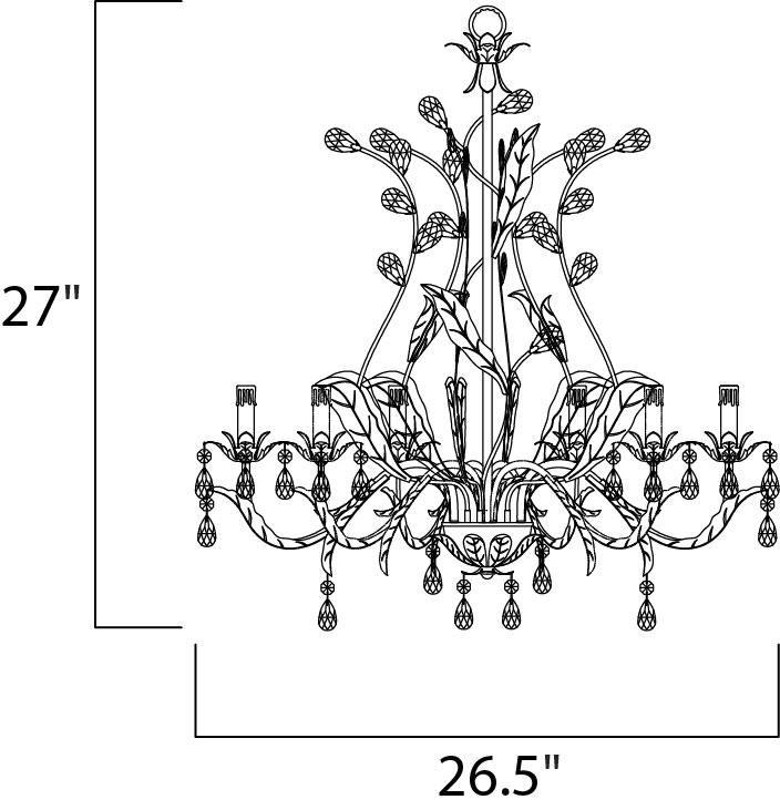 grove 6-light chandelier - single-tier chandelier