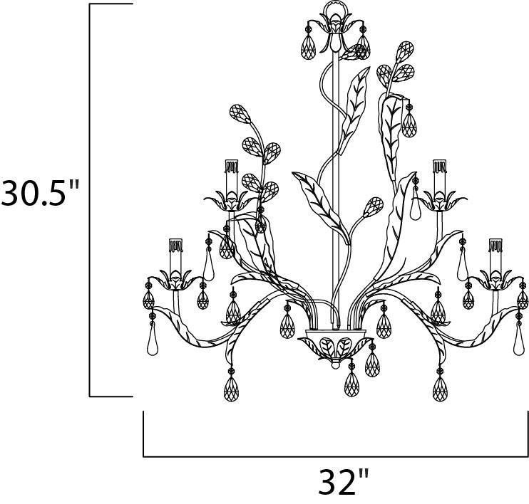 grove 9-light chandelier - multi-tier chandelier