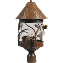 Pine Grove 3 Light Outdoor Pole Post Lantern