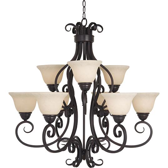Manor 9 light chandelier multi tier chandelier maxim lighting 12207fioi mozeypictures Images