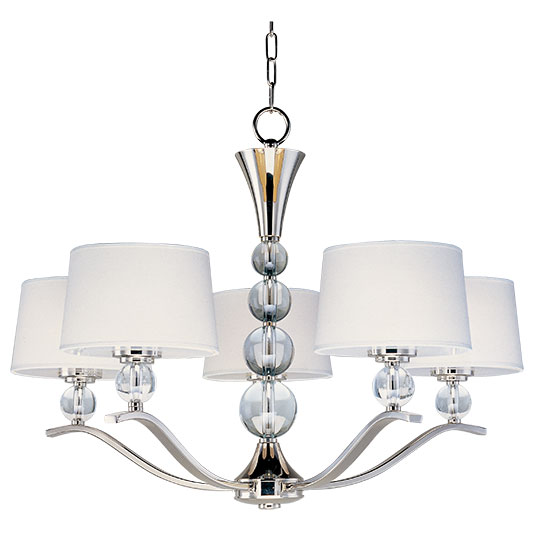 Rondo 5 light chandelier single tier chandelier maxim lighting 12755wtpn mozeypictures Choice Image