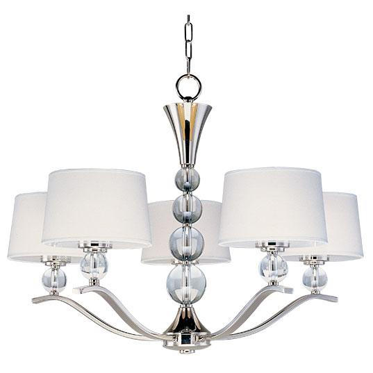 Rondo 5 light chandelier single tier chandelier maxim lighting 12755wtpn mozeypictures Images