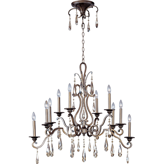 Chic 10 light chandelier multi tier chandelier maxim lighting 14307hr mozeypictures Choice Image