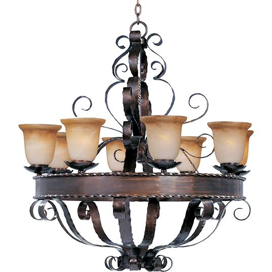 Aspen 8 light chandelier single tier chandelier maxim lighting 20610vaoi mozeypictures Images