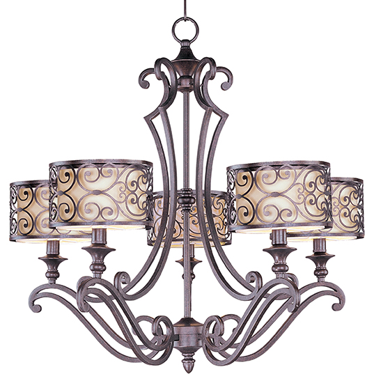 Mondrian 5 light chandelier single tier chandelier maxim lighting 21155whub mozeypictures Choice Image