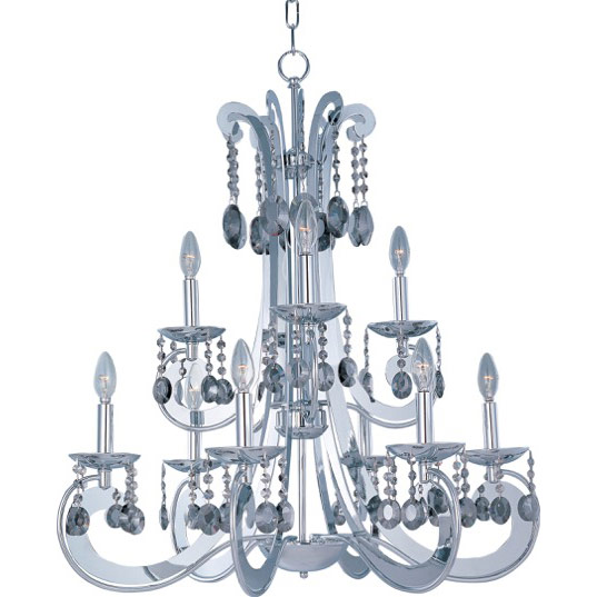 Cyclone 9 light chandelier multi tier chandelier maxim lighting 22327pc mozeypictures Choice Image