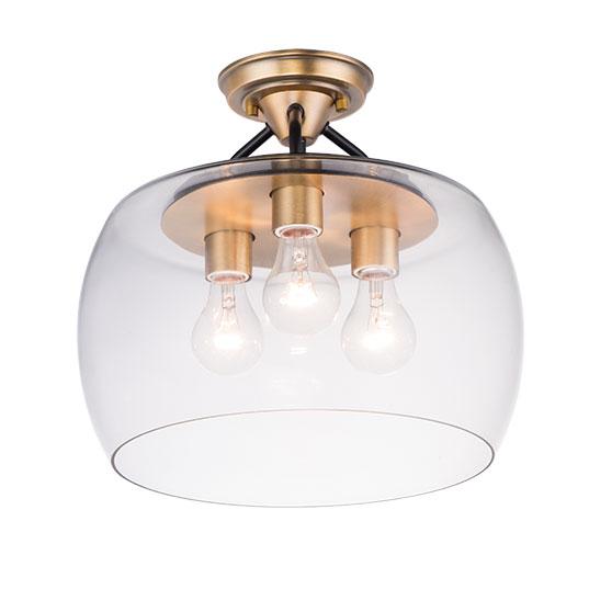 Goblet 3 Light Semi Flush Mount Flush Mount Maxim Lighting