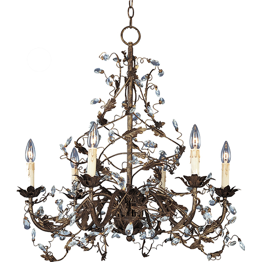 Elegante 6 Light Chandelier