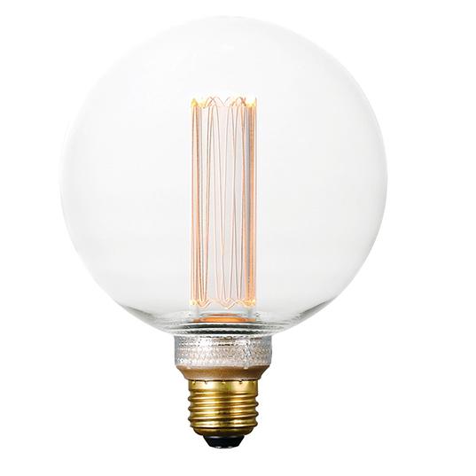 3 5w Dimmable Led E26 G125 Classic Pattern Bulb Maxim